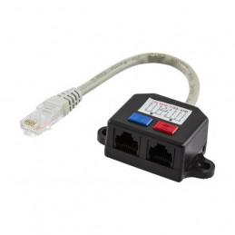 Y-Kabel för Nätverk, 1xRJ45 ha till 2xRJ45 ho, UTP Cat5
