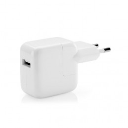 Original Laddare Apple 230V till 5V USB Typ A ho 2.4A, 12W, Vit