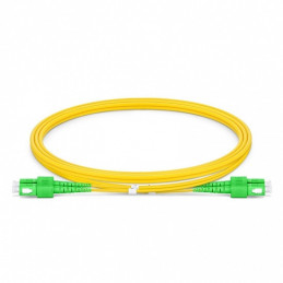 SC-SC APC Duplex Single Mode Fibre Patch Lead 2.0mm PVC (OFNR) 1m