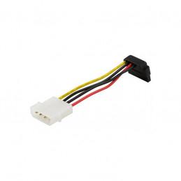 Strömkabel 4-pin Molex till Vinklad SATA-Ström