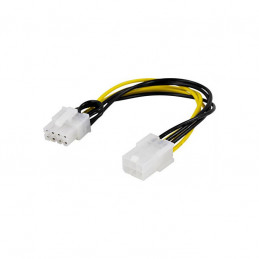 Deltaco Adapterkabel, 6-pin PCI-Express till 8-pin PCI-Express, 10cm