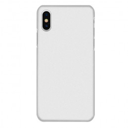 Tunt fodral - iPhone XR med matt frostad yta i hårdplast - Vit