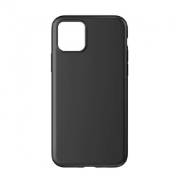 Tunt fodral - iPhone 11 Pro Max med matt frostad yta i hårdplast - Svart