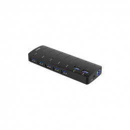 Deltaco USB 3.0 Hub, 7xType...