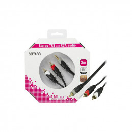 Deltaco Audio Cable, 3.5mm...