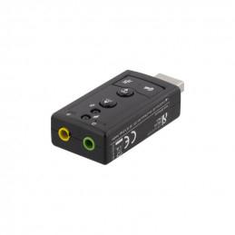 Deltaco USB-Ljudkort,...