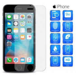 Screen Protection iPhone 6 - 6S - 7 - 8 Plus, Tempered Glass
