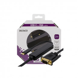 Deltaco USB-C - VGA Cable,...