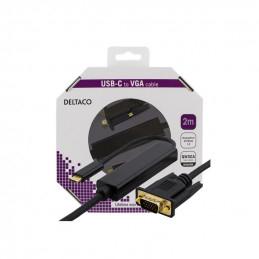 Deltaco USB-C - VGA Kabel,...