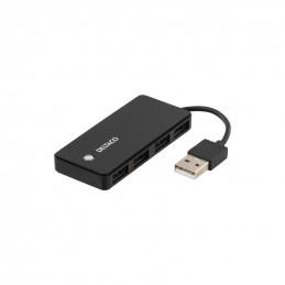 Deltaco USB 2.0 Hubb, 4xTyp...