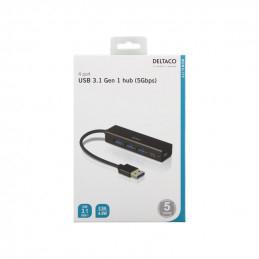 USB Mini Hubb med 4st USB-A...