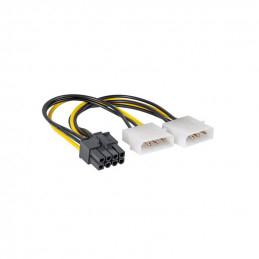 Adapterkabel, 2xMolex 4-pin...