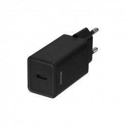 Deltaco USB-C Wall charger with PD, 5V/3A, 18W, Black