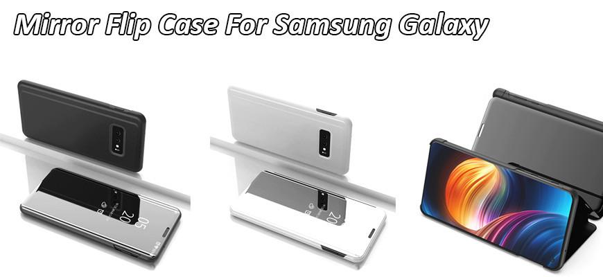 Mirror Flip Case For Samsung Galaxy