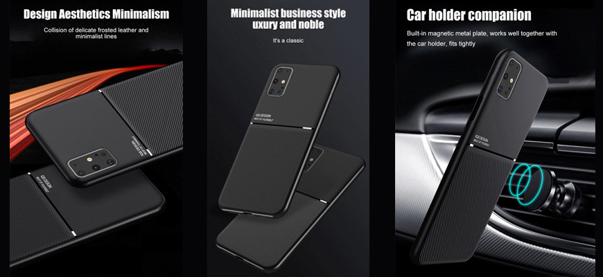 Classic - Protective Case in Frosted Leather For Samsung and Huawei